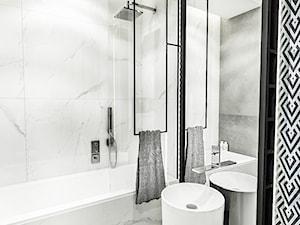 PROJEKT MIESZKANIA - LDZ 2018 - Średnia łazienka w bloku w domu jednorodzinnym bez okna - zdjęcie od BIBI