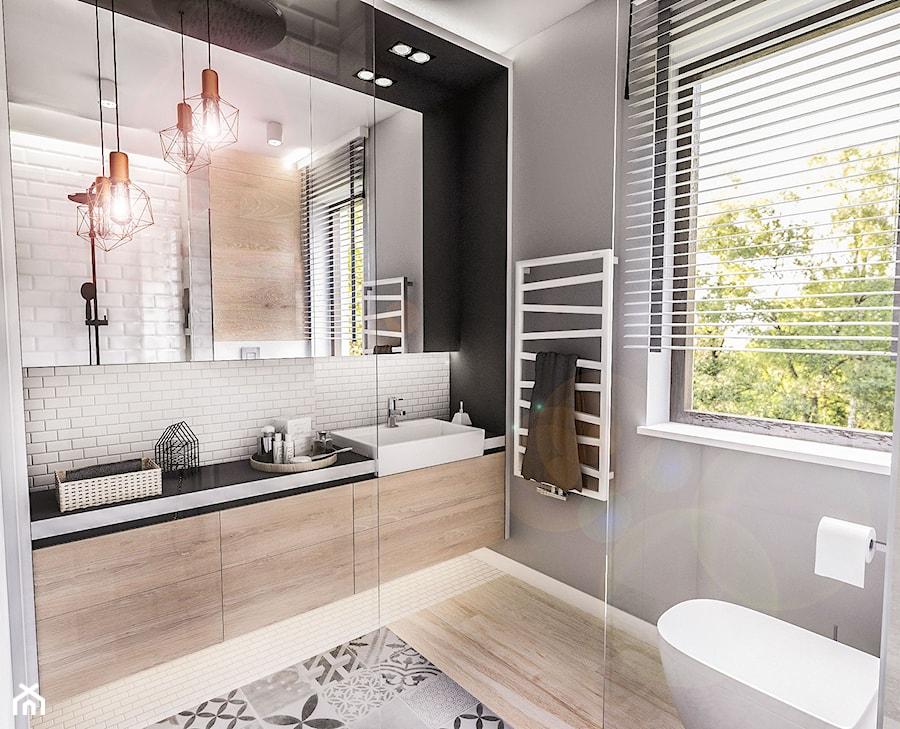 Projekt Mieszkania Ldz 2017 średnia Czarna łazienka W