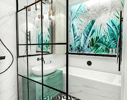 PROJEKT ŁAZIENKI - 6m2 - Mała łazienka w bloku w domu jednorodzinnym bez okna, styl nowojorski - zdjęcie od BIBI