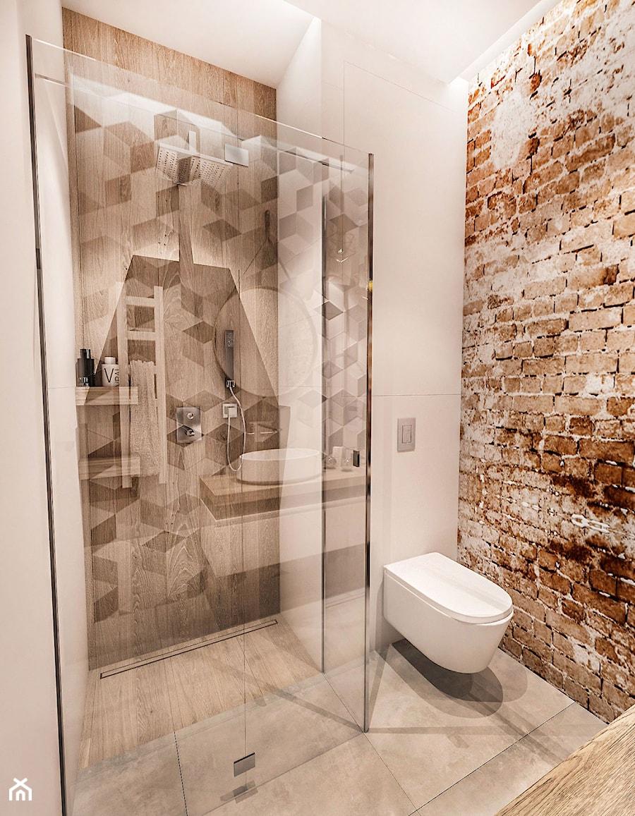 Projekt łazienki Wawa 2017 R Mała Szara łazienka W