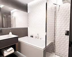 PROJEKT MIESZKANIA - ŁÓDZ 2018 - Średnia łazienka w bloku w domu jednorodzinnym bez okna - zdjęcie od BIBI