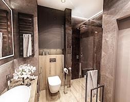 ŁAZIENKA - IRON BRONZE ŁÓDŹ 2019 - Średnia czarna łazienka w bloku w domu jednorodzinnym bez okna, styl vintage - zdjęcie od BIBI - Homebook