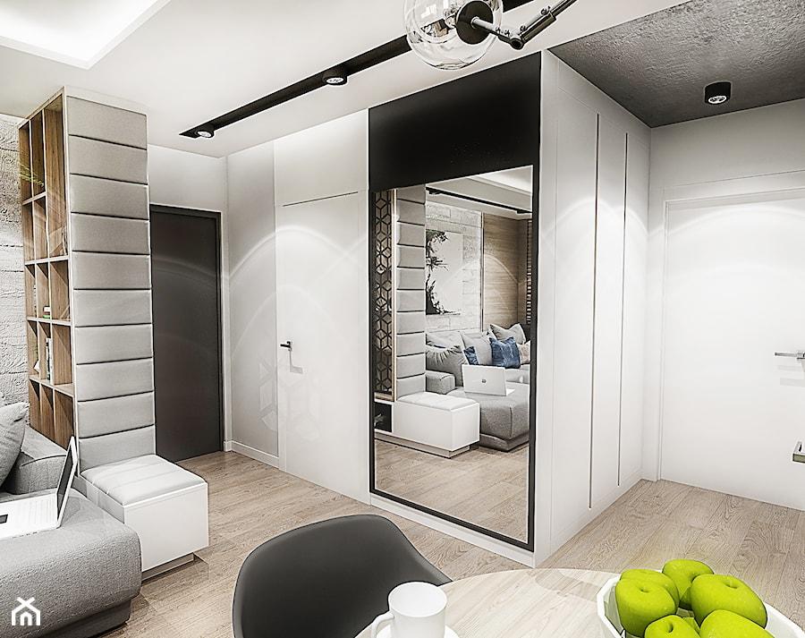 Projekt mieszkania - Gdańsk 2019 r. - Średni szary hol / przedpokój, styl nowoczesny - zdjęcie od BIBI