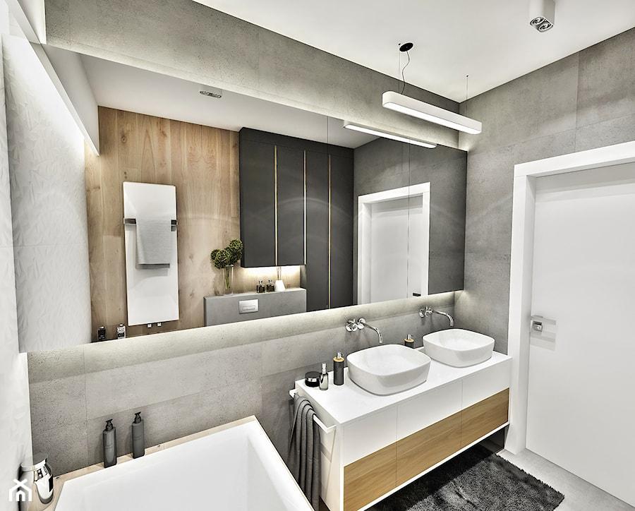 Aranżacje wnętrz - Łazienka: Projekt Mieszkania W-wa 2019 - Średnia czarna łazienka w bloku w domu jednorodzinnym bez okna - BIBI. Przeglądaj, dodawaj i zapisuj najlepsze zdjęcia, pomysły i inspiracje designerskie. W bazie mamy już prawie milion fotografii!