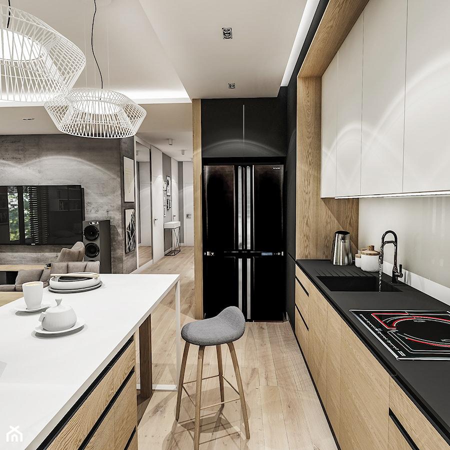 Projekt Mieszkania W Wa 2019 średnia Biała Beżowa Kuchnia