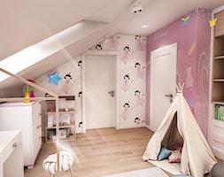 Projekt wnętrza domu pod Sewillą - Mały biały różowy pokój dziecka dla dziewczynki dla ucznia dla malucha - zdjęcie od BIBI