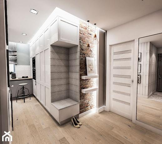 Projekt Mieszkania W łodzi 65 M2 średni Biały Hol