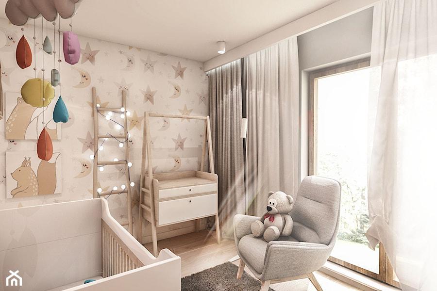 Aranżacje wnętrz - Pokój dziecka: Projekt Mieszkania W-wa 2019 - Mały szary pokój dziecka dla chłopca dla dziewczynki dla niemowlaka - BIBI. Przeglądaj, dodawaj i zapisuj najlepsze zdjęcia, pomysły i inspiracje designerskie. W bazie mamy już prawie milion fotografii!