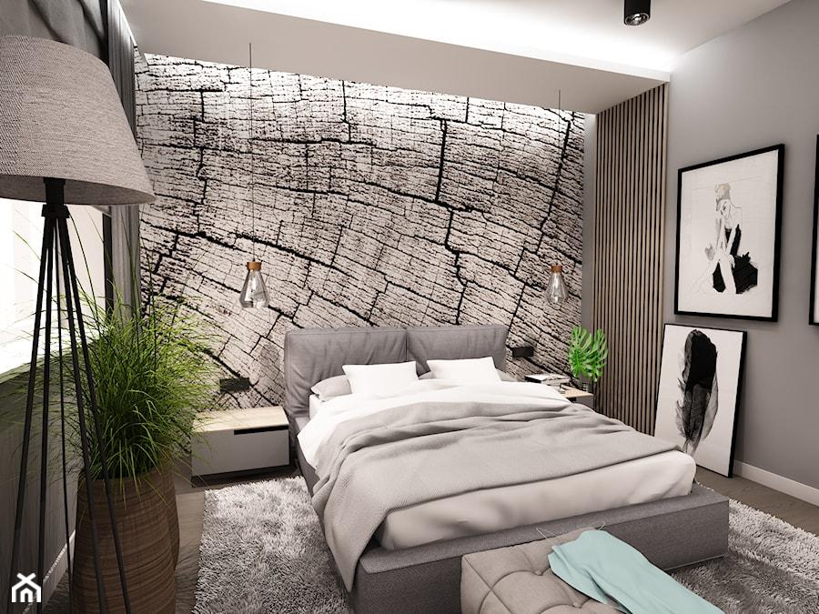 Projekt Wnętrza Domu łódź 2019 Mała Szara Sypialnia