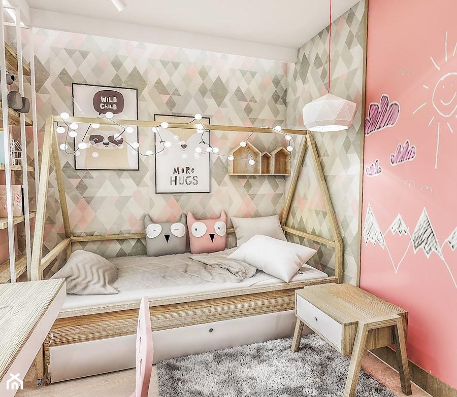 Aranżacje wnętrz - Pokój dziecka: Projekt mieszkania - Gdańsk 2019 r. - Mały szary różowy pokój dziecka dla dziewczynki dla ucznia dla nastolatka, styl vintage - BIBI. Przeglądaj, dodawaj i zapisuj najlepsze zdjęcia, pomysły i inspiracje designerskie. W bazie mamy już prawie milion fotografii!