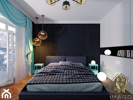 Aranżacje wnętrz - Sypialnia: Sypialnia - Mała biała czarna sypialnia małżeńska, styl tradycyjny - Karolina Żaczek. Przeglądaj, dodawaj i zapisuj najlepsze zdjęcia, pomysły i inspiracje designerskie. W bazie mamy już prawie milion fotografii!