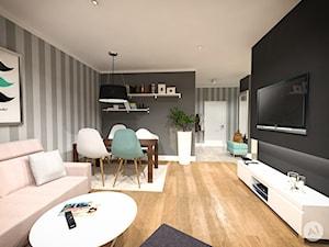 Projekt wnętrz mieszkania 70 m2 w Warszawie