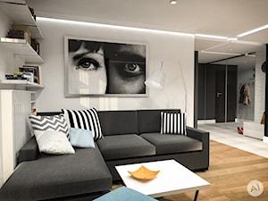 Projekt wnętrz mieszkania 53m2 w Warszawie