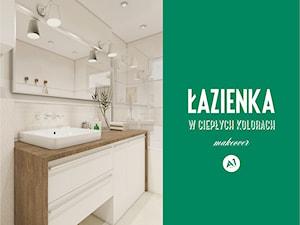 Projekt łazienka w ciepłych kolorach - 'makeover'