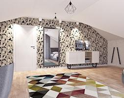 Pokój dla nastolatki - Duży biały szary pokój dziecka dla chłopca dla dziewczynki dla ucznia dla nastolatka, styl rustykalny - zdjęcie od APP TRENDY Autorska Pracownia Projektowa