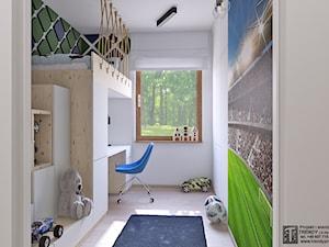 pokój chłopca 333 - Średni biały pokój dziecka dla chłopca dla dziewczynki dla ucznia dla malucha dla nastolatka, styl industrialny - zdjęcie od APP TRENDY Autorska Pracownia Projektowa