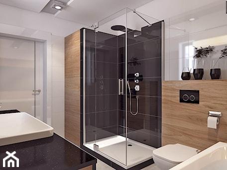 Aranżacje wnętrz - Łazienka: Łazienka 2 - Średnia biała beżowa czarna łazienka z oknem, styl nowoczesny - APP TRENDY Autorska Pracownia Projektowa. Przeglądaj, dodawaj i zapisuj najlepsze zdjęcia, pomysły i inspiracje designerskie. W bazie mamy już prawie milion fotografii!