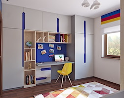 Pokój Małego Piłkarza - Mały biały pokój dziecka dla chłopca dla dziewczynki dla ucznia dla malucha dla nastolatka, styl nowoczesny - zdjęcie od APP TRENDY Autorska Pracownia Projektowa