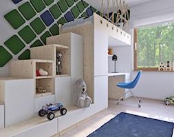 pokój chłopca 333 - Mały biały pokój dziecka dla chłopca dla dziewczynki dla ucznia dla malucha, styl skandynawski - zdjęcie od APP TRENDY Autorska Pracownia Projektowa