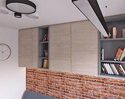 gabinet dla dwojga - Mała biała sypialnia dla gości, styl tradycyjny - zdjęcie od APP TRENDY Autorska Pracownia Projektowa