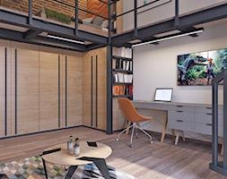 pokój młodzieżowy z antresolą22 - Duża biała sypialnia małżeńska na antresoli, styl skandynawski - zdjęcie od APP TRENDY Autorska Pracownia Projektowa