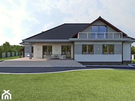 Elewacja - Duży ogród za domem, styl nowoczesny - zdjęcie od APP TRENDY Autorska Pracownia Projektowa
