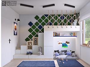 pokój chłopca 333 - Średni szary pokój dziecka dla chłopca dla dziewczynki dla malucha, styl tradycyjny - zdjęcie od APP TRENDY Autorska Pracownia Projektowa