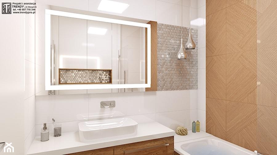 łazienka Biała Drewno 11 Mała łazienka W Bloku W Domu