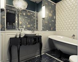 Łazienka- klasyczna - Średnia biała zielona łazienka bez okna, styl klasyczny - zdjęcie od 2k-architektura - Homebook