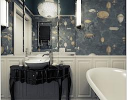 Łazienka- klasyczna - Średnia biała kolorowa łazienka bez okna, styl klasyczny - zdjęcie od 2k-architektura - Homebook