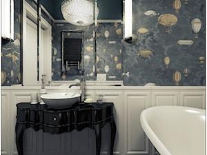 Łazienka- klasyczna - Średnia biała kolorowa łazienka bez okna, styl klasyczny - zdjęcie od 2k-architektura