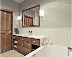 Łazienka retro - Średnia beżowa łazienka w bloku bez okna, styl vintage - zdjęcie od 2k-architektura