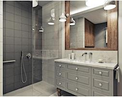 Łazienka - Średnia szara łazienka, styl vintage - zdjęcie od 2k-architektura - Homebook