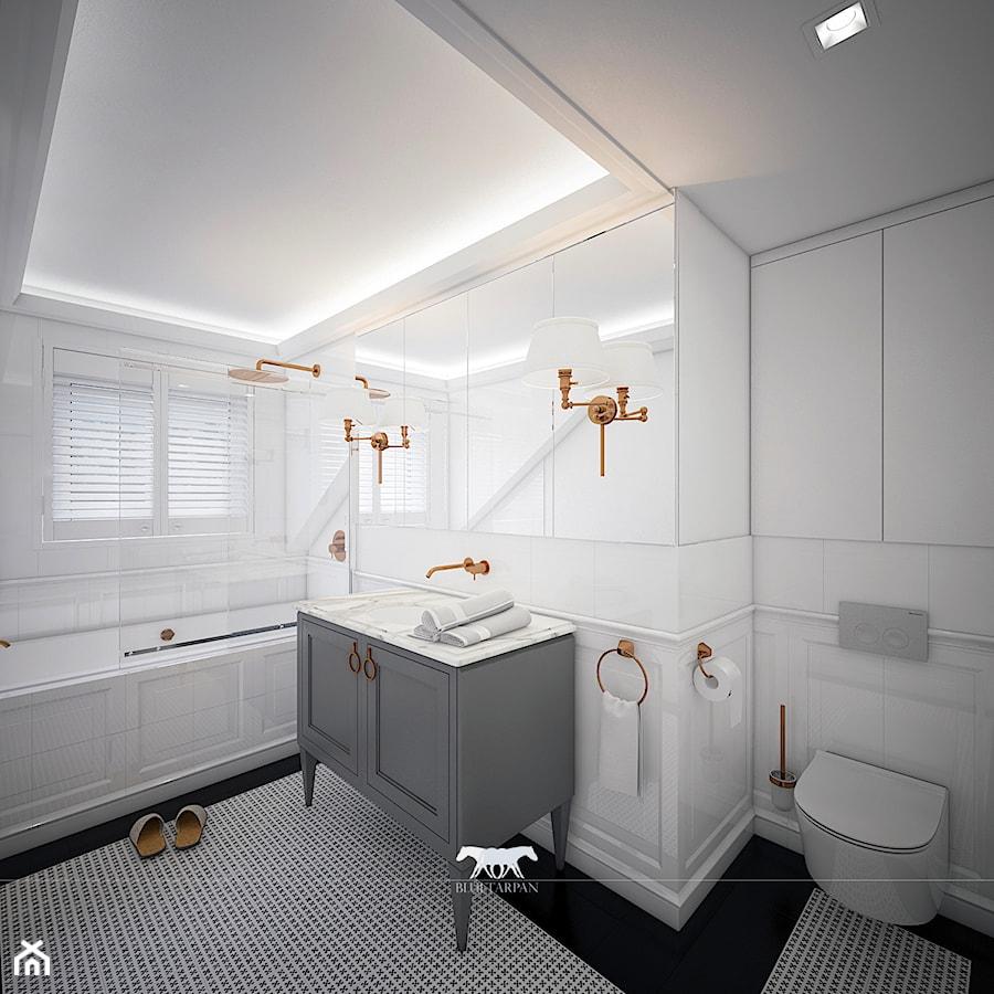 M100 Duża Biała łazienka Jako Domowe Spa Z Oknem Styl