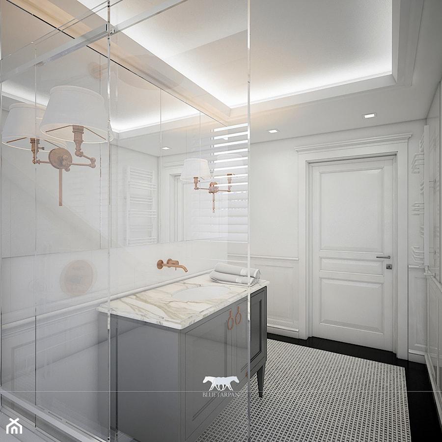 M100 Mała Biała Szara łazienka W Bloku Bez Okna Styl