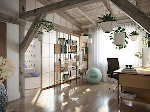 M20 - Duże białe biuro pracownia domowe w pokoju, styl prowansalski - zdjęcie od BLUETARPAN