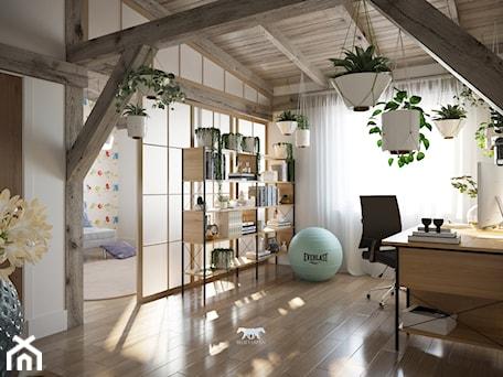 Aranżacje wnętrz - Biuro: M20 - Duże białe biuro pracownia domowe w pokoju, styl prowansalski - BLUETARPAN. Przeglądaj, dodawaj i zapisuj najlepsze zdjęcia, pomysły i inspiracje designerskie. W bazie mamy już prawie milion fotografii!