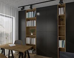 Dom pod Gdańskiem - Średnie białe biuro domowe kącik do pracy w pokoju, styl minimalistyczny - zdjęcie od emkaprojekt - Homebook