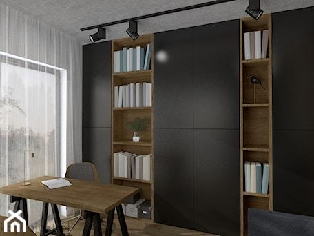 Aranżacje wnętrz - Biuro: Dom pod Gdańskiem - Średnie białe biuro domowe kącik do pracy w pokoju, styl minimalistyczny - emkaprojekt. Przeglądaj, dodawaj i zapisuj najlepsze zdjęcia, pomysły i inspiracje designerskie. W bazie mamy już prawie milion fotografii!