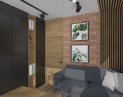 Dom pod Gdańskiem - Średnie biuro domowe w pokoju, styl nowoczesny - zdjęcie od emkaprojekt - Homebook