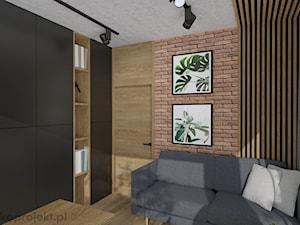 Dom pod Gdańskiem - Średnie biuro domowe w pokoju, styl nowoczesny - zdjęcie od emkaprojekt