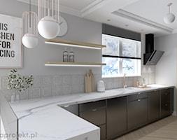 ciemna elegancja - Kuchnia, styl klasyczny - zdjęcie od emkaprojekt - Homebook