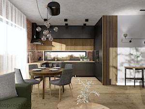 Dom pod Gdańskiem - Kuchnia, styl industrialny - zdjęcie od emkaprojekt