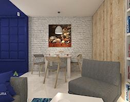 GranatLOVE - Mała otwarta biała jadalnia w salonie, styl nowoczesny - zdjęcie od ARCHITEKSTURA Malwina Kroll architekt