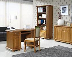 Duże kolorowe biuro domowe w pokoju - zdjęcie od Meble BiK
