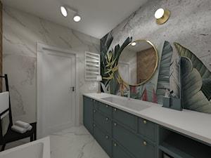 Osiedle Kopernika Ostrowiec Św. 2018 - Średnia łazienka w bloku w domu jednorodzinnym bez okna, styl nowoczesny - zdjęcie od MJ Design Monika Juszczel