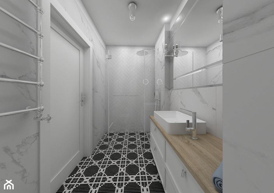 Apartament Kraków 2019 - Łazienka, styl klasyczny - zdjęcie od MJ Design Monika Juszczel