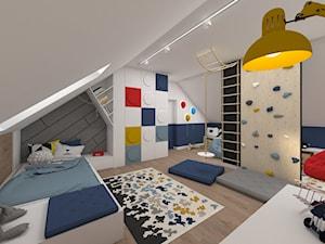 Dom pod lasem 2019 - Duży biały pokój dziecka dla chłopca dla ucznia dla malucha, styl skandynawski - zdjęcie od MJ Design Monika Juszczel