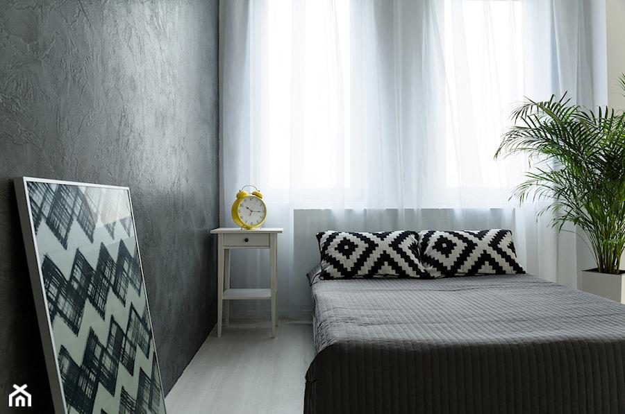Mieszkanie pod Krakowem - Mały biały czarny pokój dziecka dla chłopca dla dziewczynki dla malucha dla nastolatka, styl minimalistyczny - zdjęcie od KPstudio