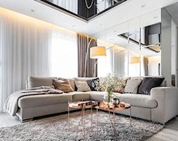 Mieszkanie w Zielonej Górze 2 - Mały biały salon - zdjęcie od STRAŻYŃSKI STUDIO - Homebook